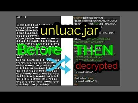 Decompile / Decrypt lua files