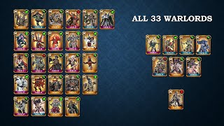 Warhammer Combat Cards: ANALYZING ALL 33 WARLORDS
