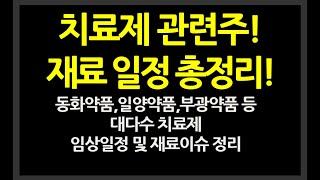 [주식] 치료제 관련주 재료 및 일정 총정리!  // …