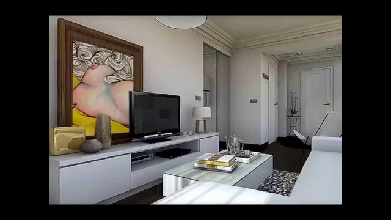 Dise o interior apartamento 47 m2 youtube for Decoracion casa 50m2
