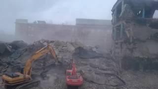 Снос старого здания на дружинников 7 Б