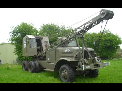 1944 Us Army Brockway 666 With Quick Way Crane Youtube