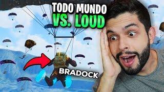 QUEM GANHOU?!? SQUAD LOUD VS. O MAPA TODO NO FREE FIRE!!!