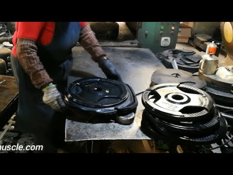 Tri Grip Rubber Coated Weight Plates Making Process From China Manufacturer - MANTA