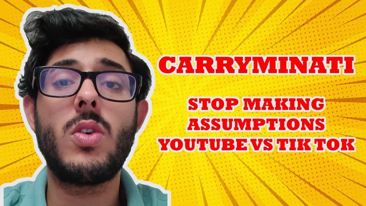 Carryminati final reply | STOP MAKING ASSUMPTIONS | YOUTUBE VS TIK ...