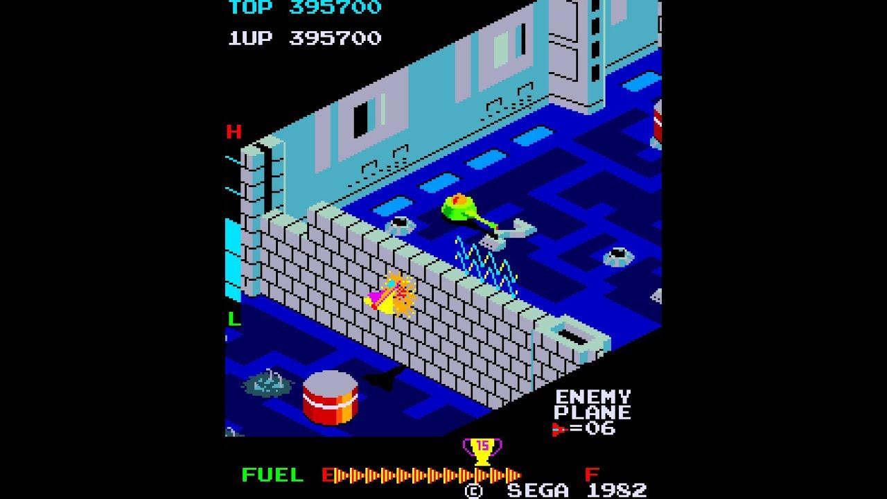 Arcade Game: Zaxxon and Super Zaxxon (1982 Sega) - YouTube