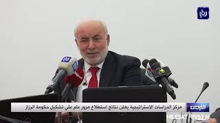 """""""الدراسات الاستراتيجية"""" يعلن نتائج استطلاع مرور عام على تشكيل حكومة الرزاز (19-6-2019)"""