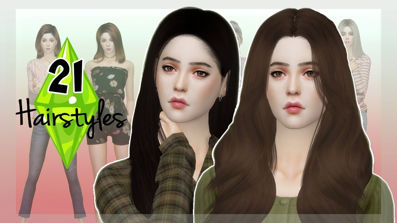 The Sims 4 : MY 21 FAVORITE HAIRSTYLES - ( Alpha CC ) |► Pack Download (FR)