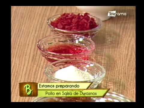 Pollo en salsa de duraznos