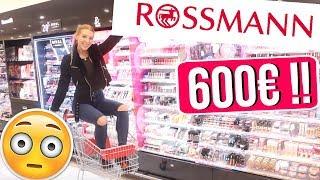Ich darf NACHTS ALLEINE für 600€ bei ROSSMANN shoppen! 😱 & IHR GEWINNT ALLES! 😍