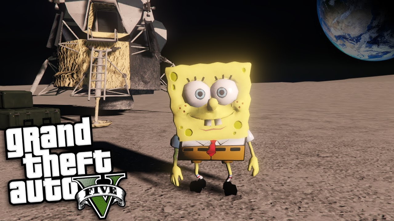 Gta  Mods Spongebob Goes To Space Mod Gta  Mods Gameplay