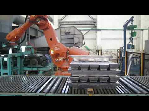 lead ingot/aluminium ingot/zinc ingot palletizing robot