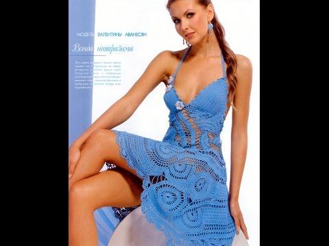 Вязание крючком платья сарафаны