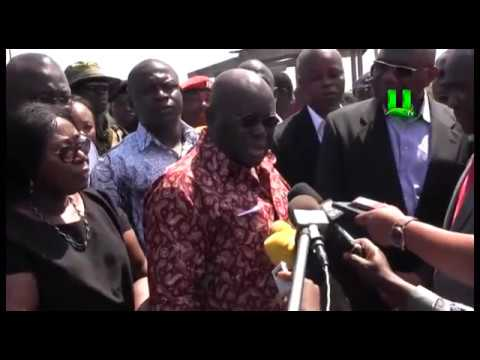 Prez. Akufo-Addo Storms Atomic Gas Explosion Site