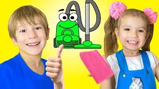 Детская песенка про уборку   Песни для детей от Тимы и Еси