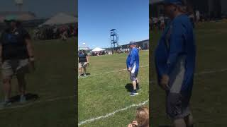 Me doing mimi jav at Special Olympics competition track and field Iowa Park Texas