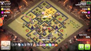 Clash of Clans: Latinos Army / Th 11 Vs Th 11/ QW + MASS VALKYRIES / Héroes 40 - 40 - 20