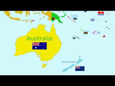 Cantecele - Tarile lumii: Oceania