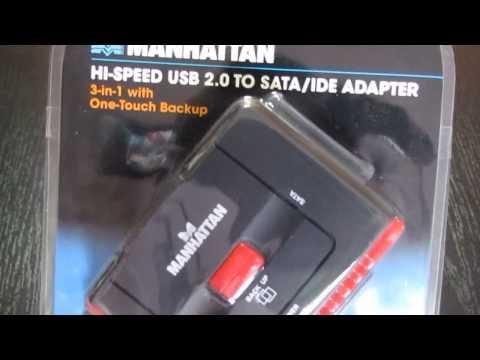 179195 Перехідник USB  COMBO IDE SATA, Manhattan