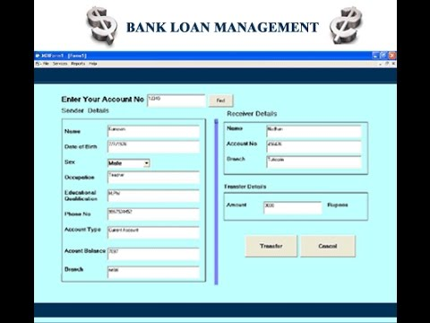 Bank Loan Management Visual Basic 6.0 Project - YouTube