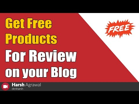 How to get free products for review on your blog