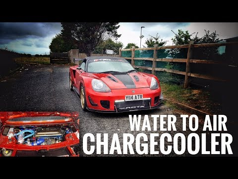water to air chargecooler - MR2 Spyder 1zz turbo - YouTube