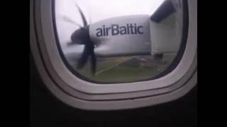 www.AviationInspector.com - Air Baltic flight BT641 plane makes emergency landing in Rīga