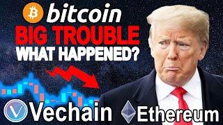 Bitcoin (BTC) in BIG Trouble ! Vechain (VET) New PARTNERSHIP ! Ethereum (ETH) New ADOPTION !