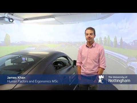 Human Factors and Ergonomics MSc student James Khan