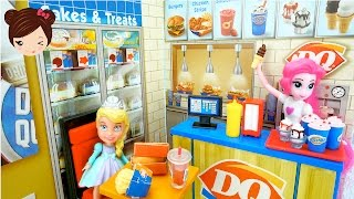 Juego de Restaurante  Dairy Queen con MLP Pinkie Pie + Elsa de Frozen