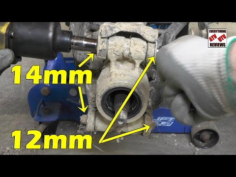 Suzuki KingQuad AXi 450 500 700 750 - Removing the Rear Knuckle & Greasing Wheel Bearings