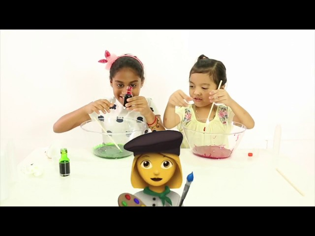 How to make Slime Astro Ceria I Cara Membuat Slime Malaysia - Kashika & Ara Aziz family fun kids