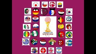 World Cup 2022 Qatar In Countryballs Group Stages