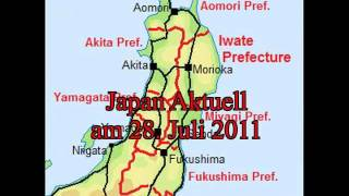 Japan Aktuell am 28. Juli 2011 - Radioaktiver Klärschlamm - wohin damit? -