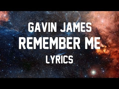 Gavin James - Remember Me JBX
