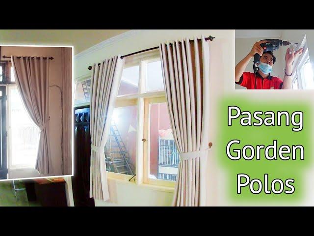 PASANG GORDEN BLACKOUT POLOS | PesanGorden.id