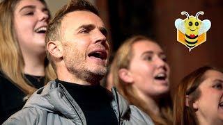 When Take That surprise Manchester Survivors Choir 🐝