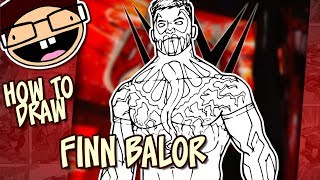 How to Draw FINN BÁLOR (WWE)   Narrated Easy Step-by-Step Tutorial