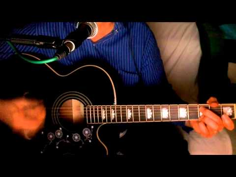 When She Cries ~ Restless Heart ~ Acoustic Cover w/ Epiphone EJ-200CE BK