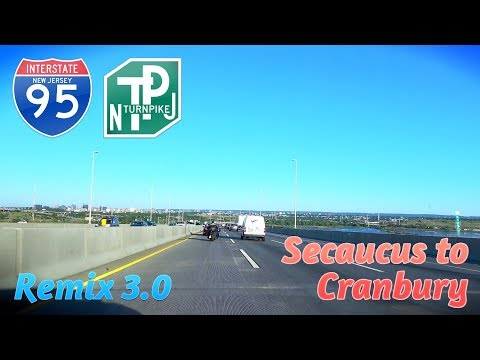 New Jersey Turnpike: Secaucus to Cranbury Twp (Down Memory Lane)