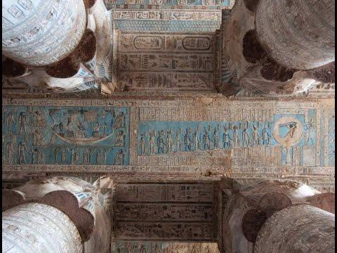 Dendera temple ceiling (A denderai templom mennyezete)