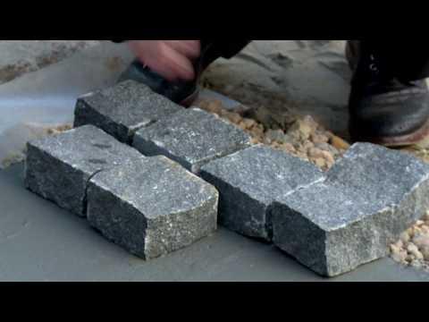 Варианты укладки гранитной брусчатки