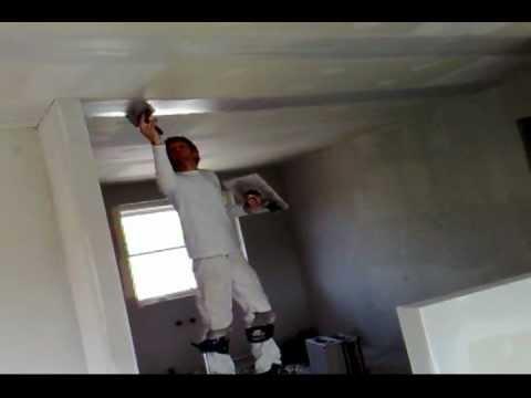 spartling af gipsplader loft