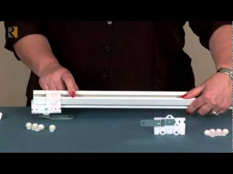 Assembly Of R Trac Track For Cord Draw Youtube
