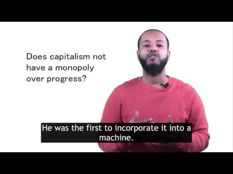 Does capitalism not have a monopoly over progress?