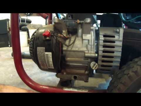 How To Change Oil On Coleman Powermate Generator / Yearly