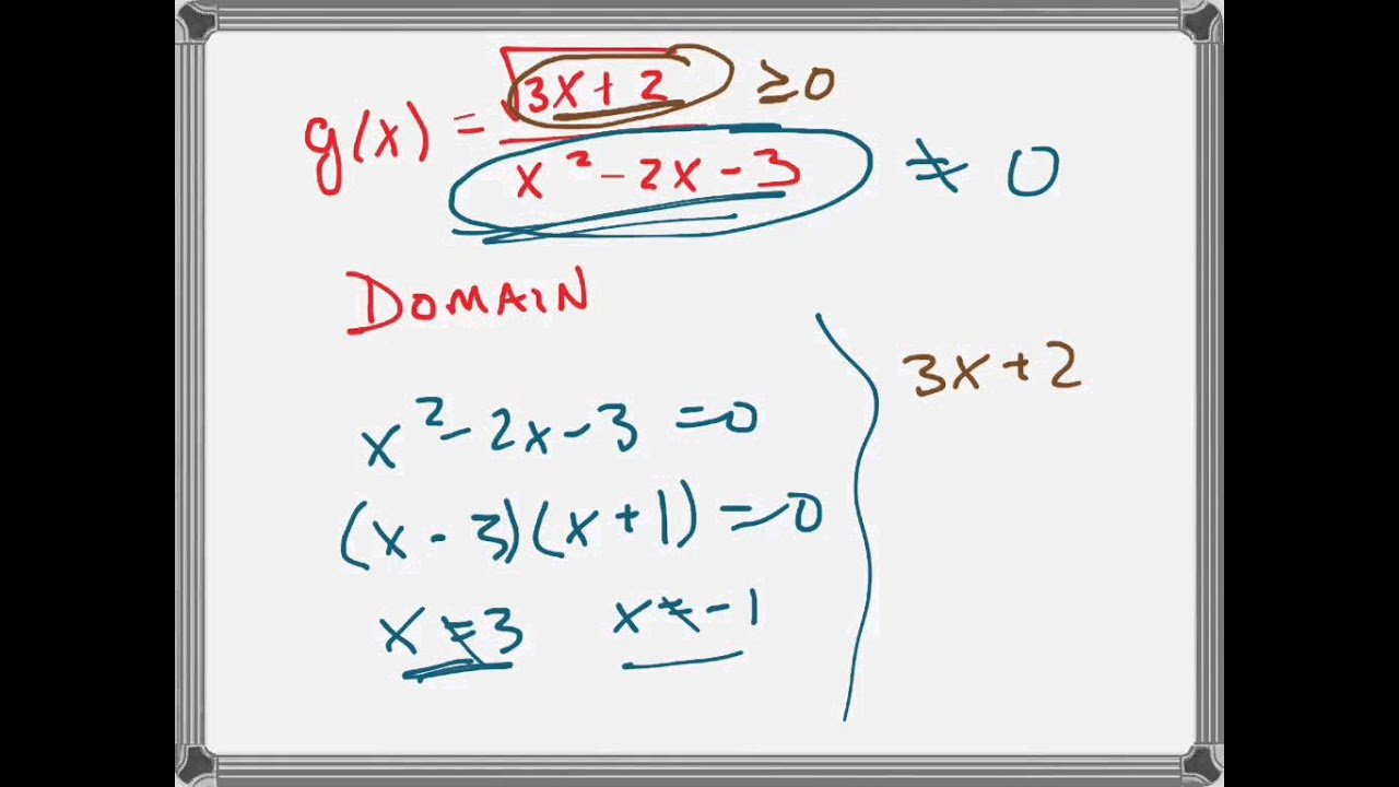 find domain range of g x sqrt 3x 2 x 2 x2 3 youtube. Black Bedroom Furniture Sets. Home Design Ideas