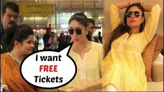 Kareena Kapoor Wants FREE Tickets From Jet Airways | FUNNY VIDEO