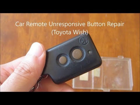 DIY – Automotive – Key Fob / Remote Unresponsive Button Repair (Toyota Wish)