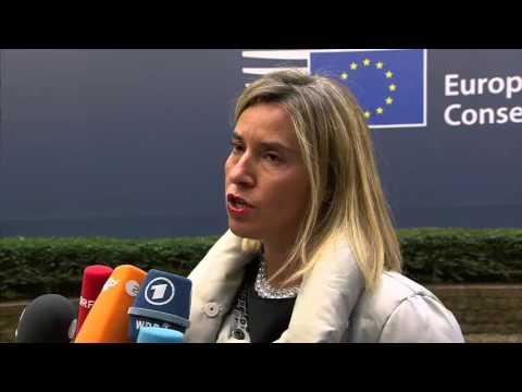 Doorstep Federica Mogherini European Council - October 2015